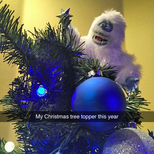 funny-Christmas-tree-star-Yeti