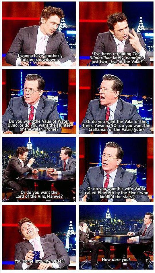 Tolkien Showdown In Colbert