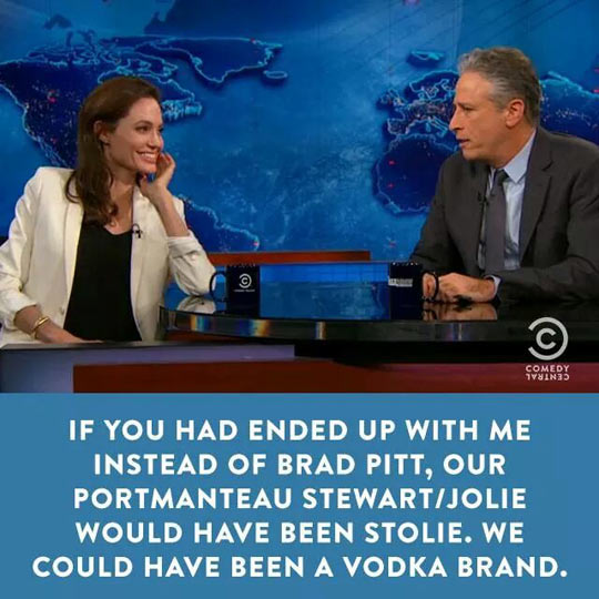 Jon Stewart Hits On Angelina Jolie