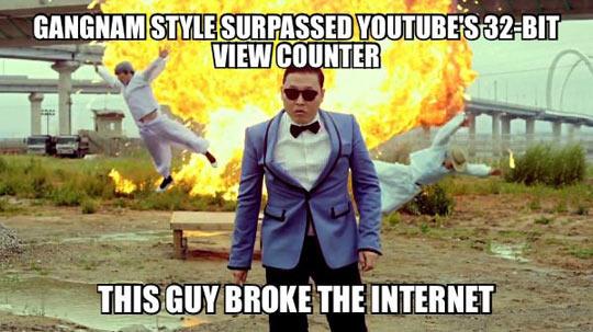 Psy Broke The Internet