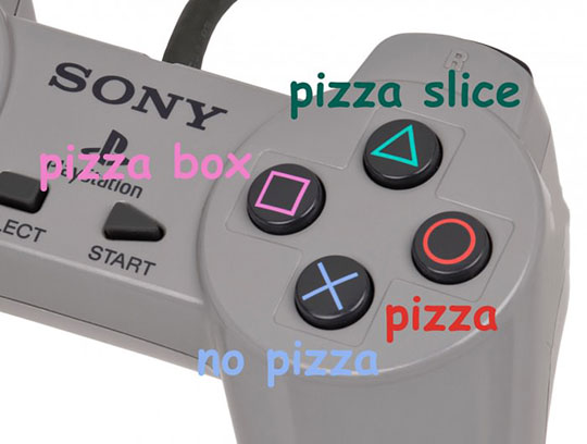 funny-PlayStation-controller-pizza-shaped