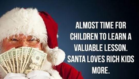 funny-Santa-Claus-smelling-money-happy