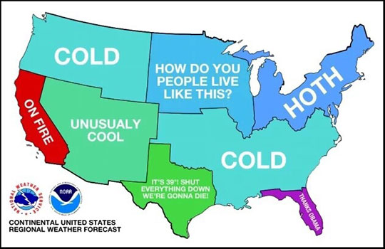 U.S. Weather Be Like
