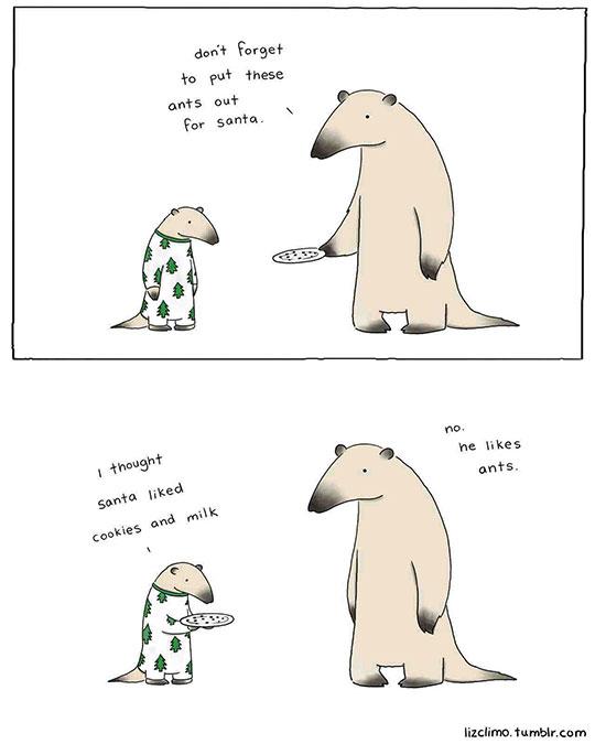 funny-ant-bear-cartoon-Santa