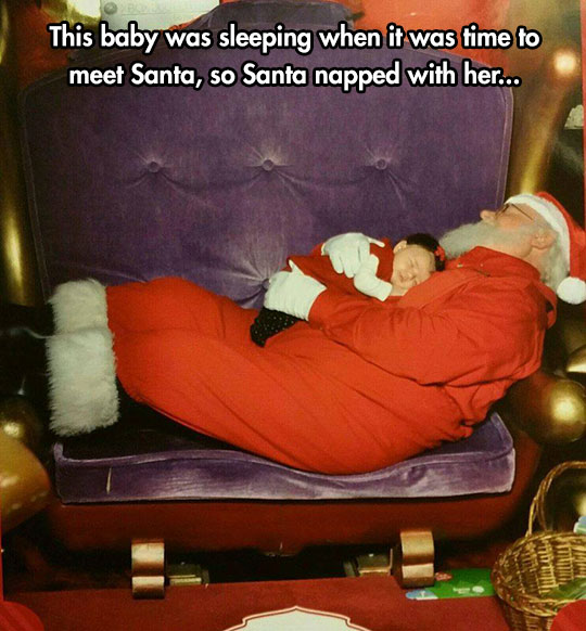 This Has To Be The Cutest Picture With Santa