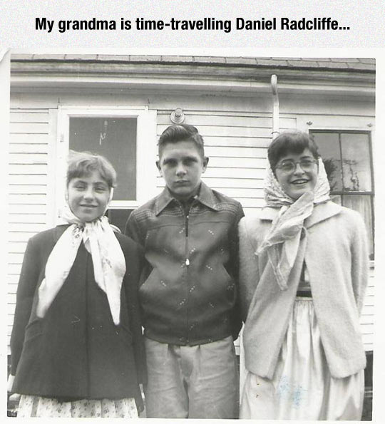 funny-grandmother-old-pic-Daniel-Radcliffe