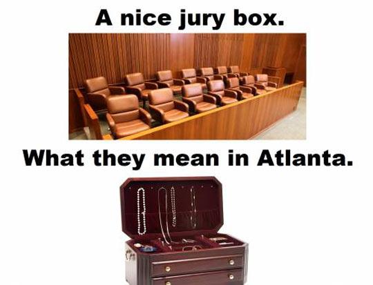 Jury Box In Atlanta