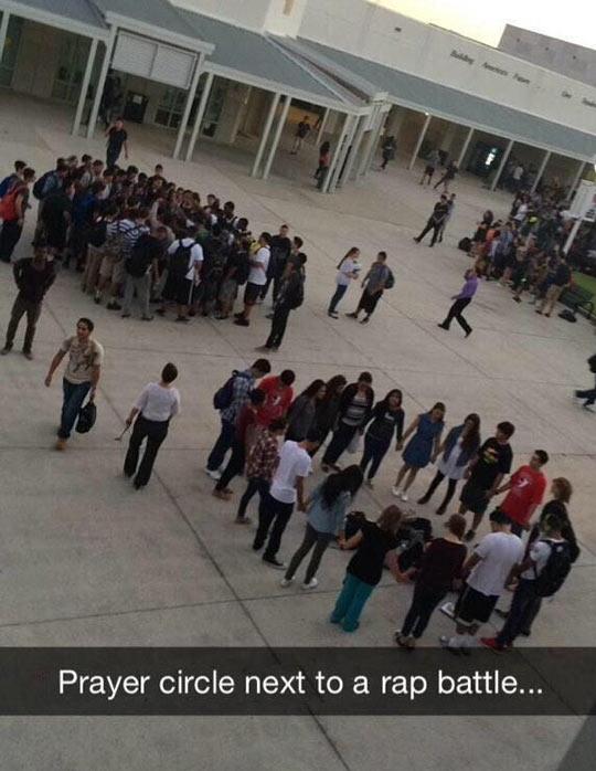 funny-school-recess-circle-praying-rap-battle