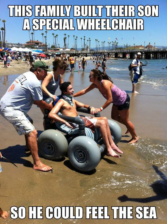 Cool Beach Wheelchair