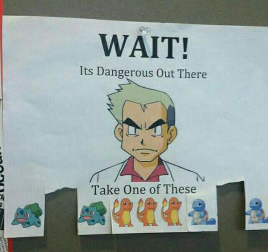 funny-sign-Pokemon-paper-Dr-Oak