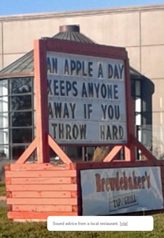 funny-sign-apple-restaurant-advice