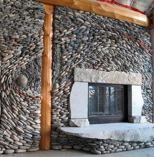 Beautiful Stonework Fireplace