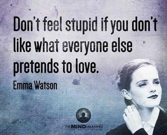 cool-Emma-Watson-quote-pretending-look