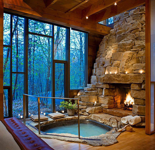 cool-Jacuzzi-fireplace-cozy