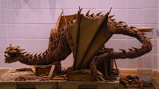 Gingerbread Smaug Replica