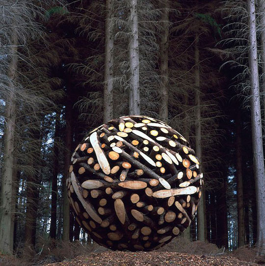 Sphere Made Out Of Wood