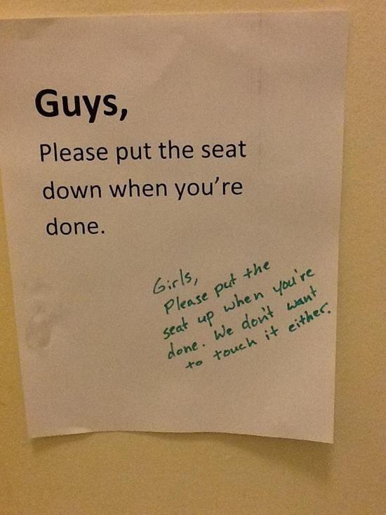 23 Funniest Bathroom Notes – Funny Bathrooms