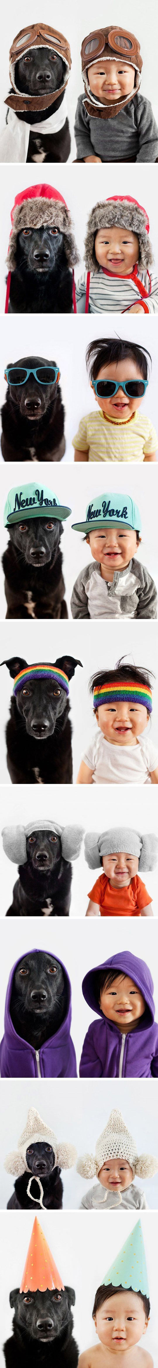 funny-Asian-kid-dog-clothes-hats