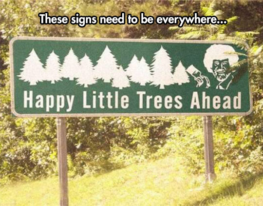 funny-Bob-Ross-street-sign-tree