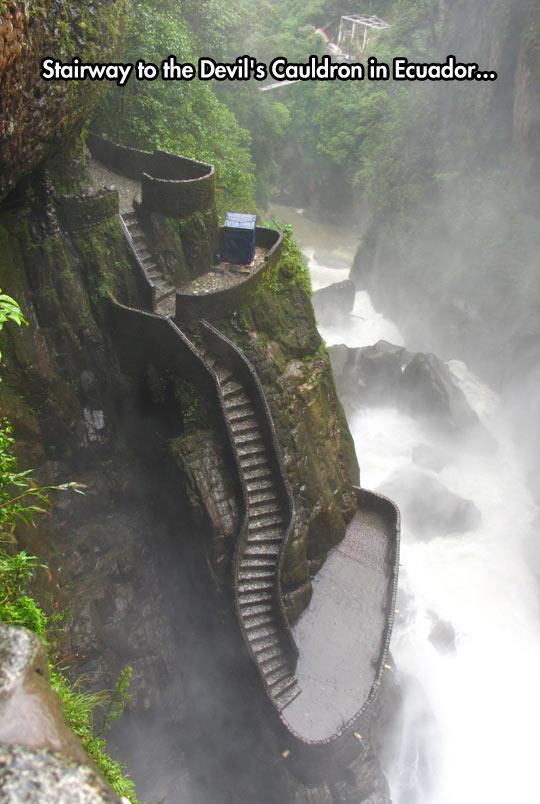 funny-Ecuador-Devil-Cauldron-stairway