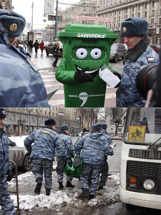 funny-Greenpeace-trash-can-costume-police