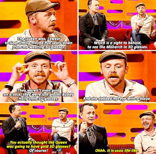 Simon Pegg And Tom Hanks