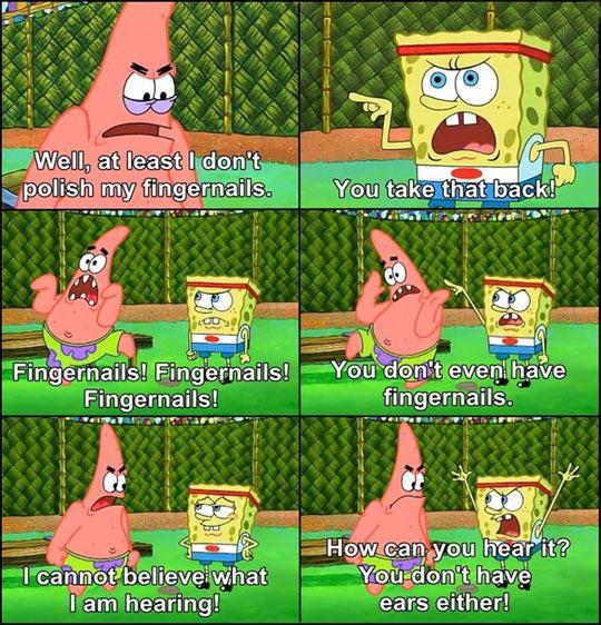 funny-SpongeBob-Patrick-fingernails-ears