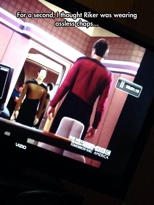 funny-Star-Trek-Riker-wearing-chaps