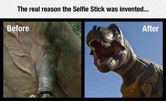 funny-TRex-selfie-camera-stick