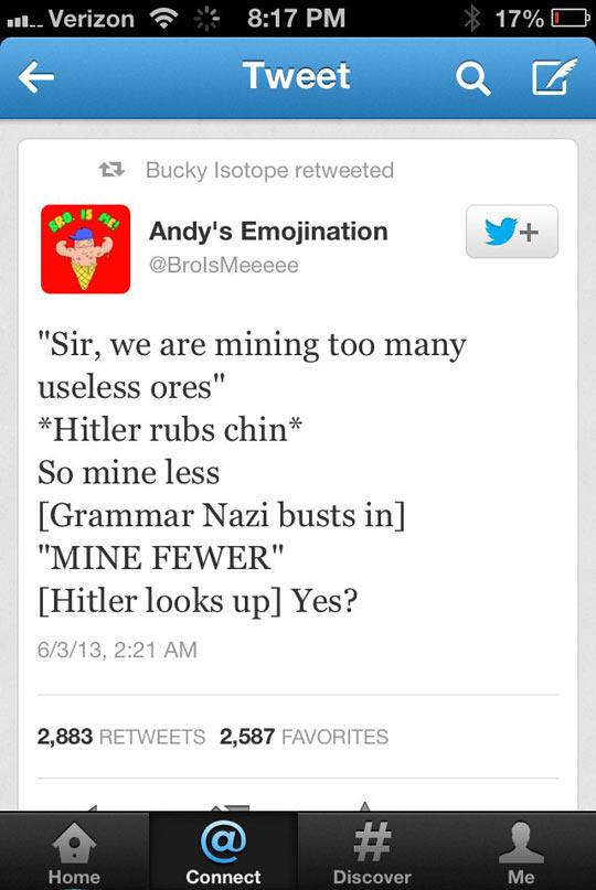 funny-Twitter-grammar-mistake-fewer