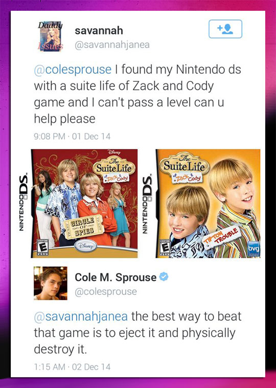 Cole Sprouse Answers A Fan Question