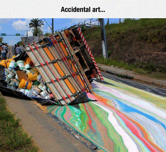 funny-accident-truck-paint-street