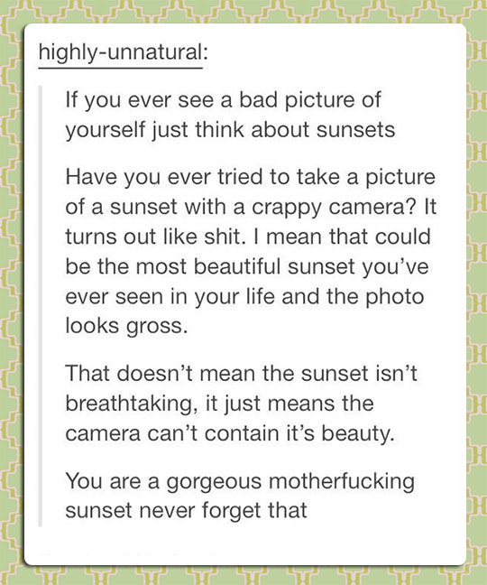 You Are A Beautiful Sunset