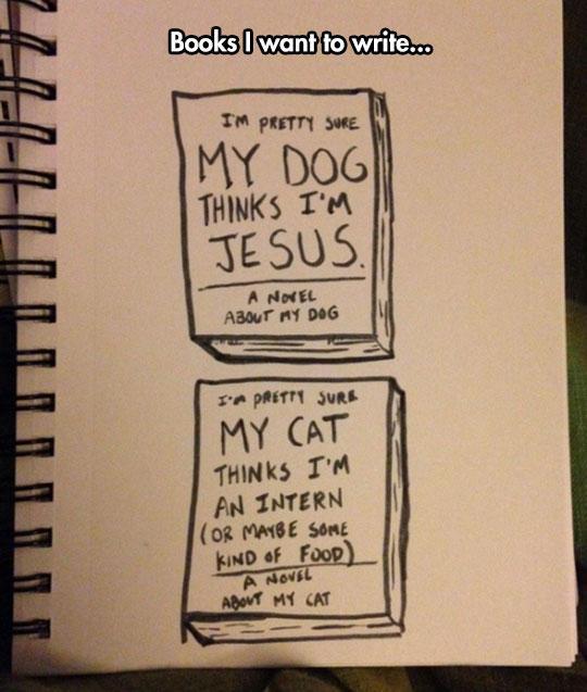 funny-books-drawing-dog-cat-novel