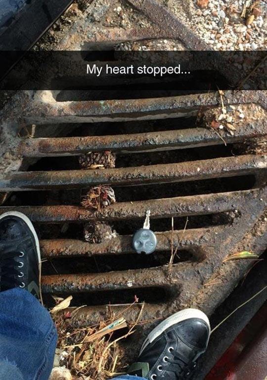 funny-car-keys-fall-shoes-sewer