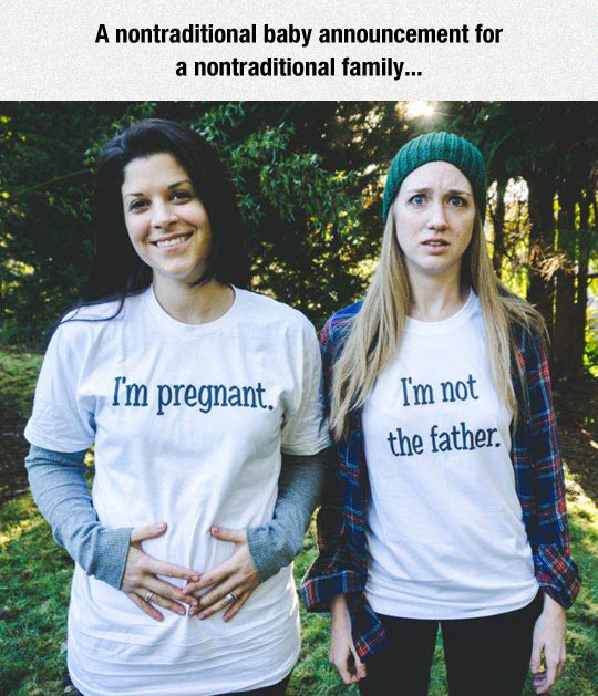 funny-couple-girls-baby-announcement