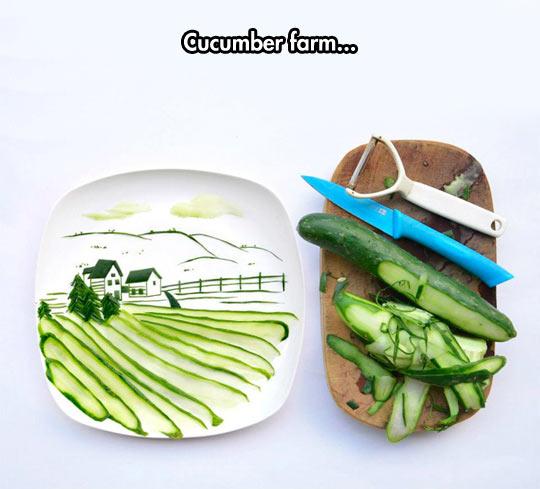 I Love Cucumber Art
