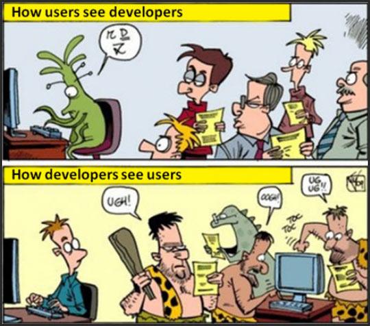 Developers Vs. Users