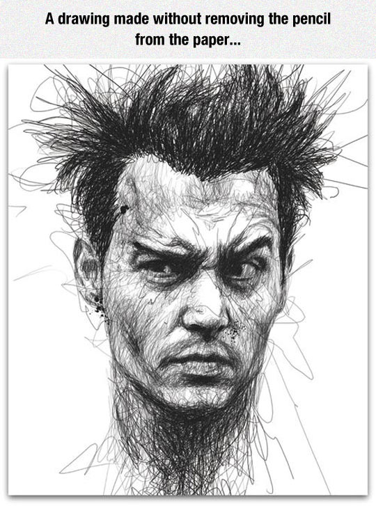 Cool Drawing Of Johnny Depp
