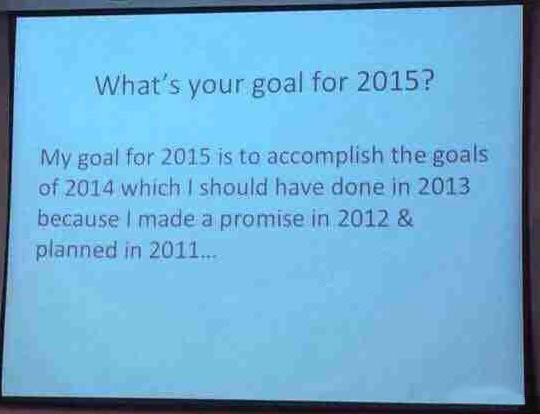 Goal For The New Year