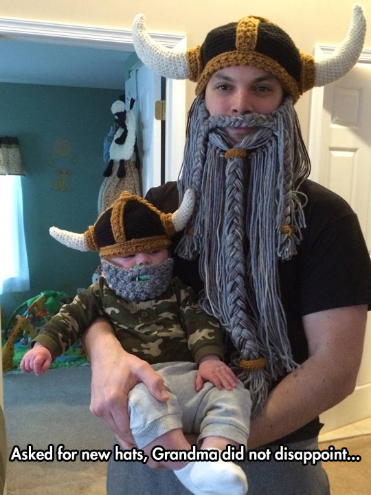 Knitted Viking