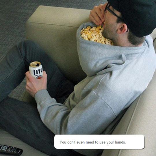 Popcorn Holder For Lazy People