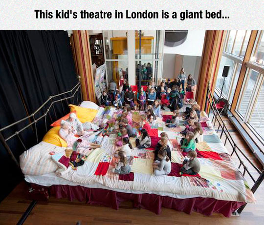 funny-kid-theater-giant-bed