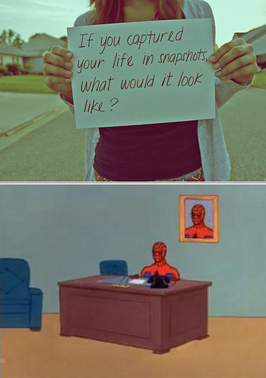 funny-life-moment-snapshot-Spiderman-desk