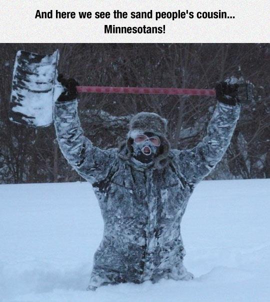 funny-man-mask-snow-shovel-winter
