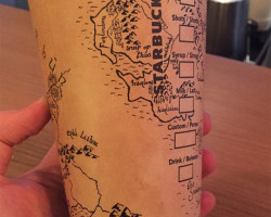 Incredible Drawing On A Starbuck