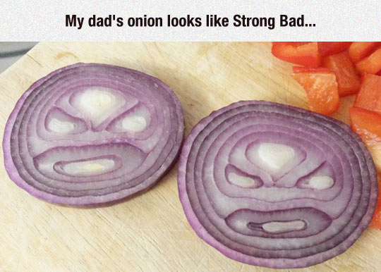 And When You Cut The Onion You Become Strong Sad