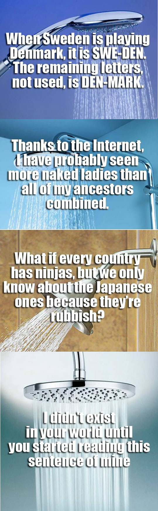 Deep Shower Thoughts
