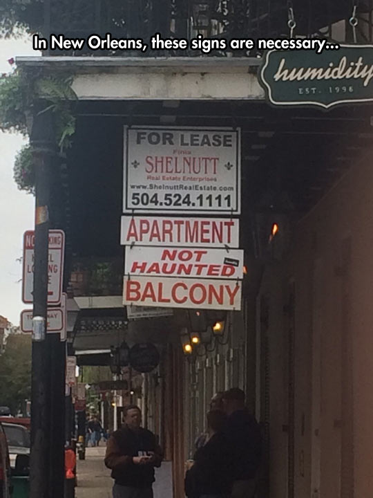 In New Orleans Not Everything Is Haunted