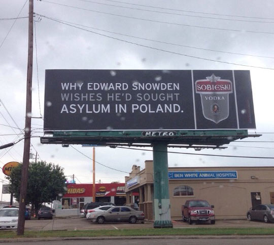 Amusing Vodka Ad On The Street